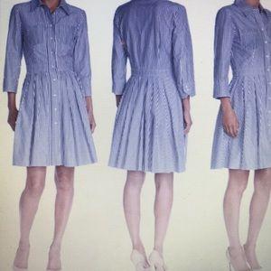 Eliza J Pinstripe Dress, 100% cotton